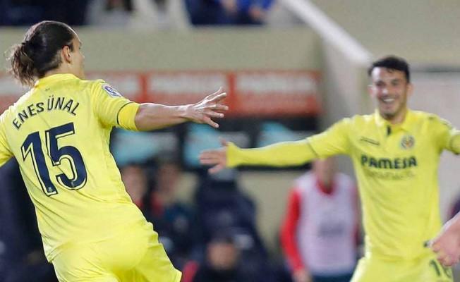 La Liga'da Villarreal, Atletico Madrid'i Enes Ünal'ın golleriyle devirdi