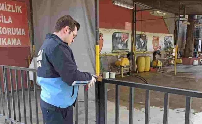 Konak'ta Ruhsatsız Yıkamacılar Kapandı