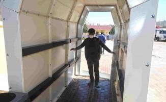Karabağlar'dan Dezenfeksiyon Tüneli